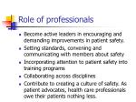role of professionals