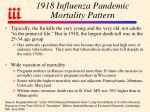 1918 influenza pandemic mortality pattern
