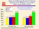 reported mental health problems among u s military personnel after iraq deployment