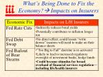 what s being done to fix the economy impacts on insurers