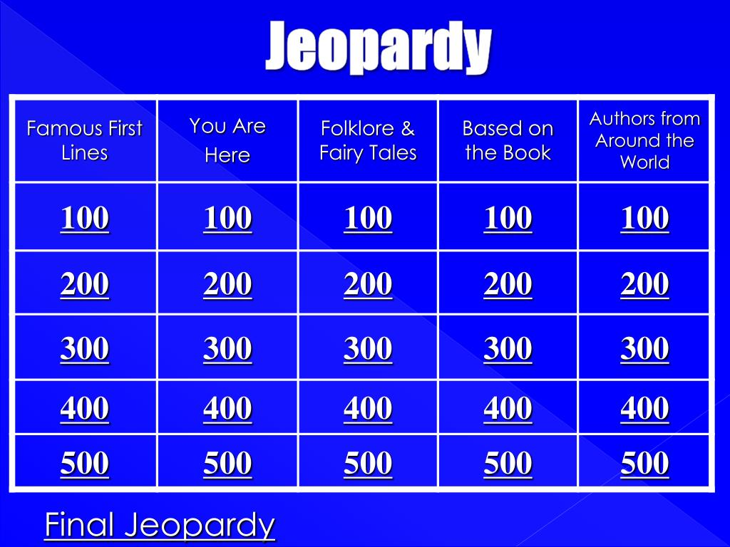 jeopardy powerpoint presentation