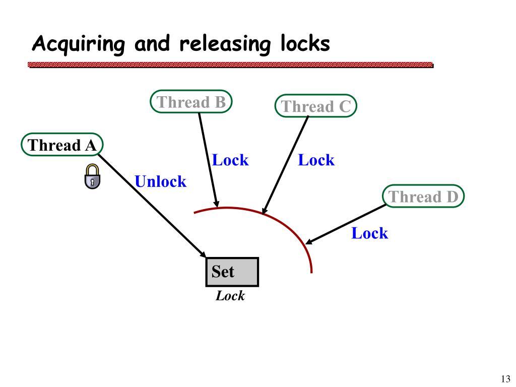 Acquiring and releasing locks