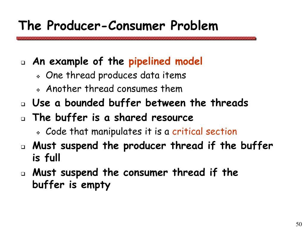 The Producer-Consumer Problem