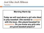just like josh gibson tuesday47