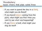 vocabulary bases cheers field plate sailed threw106