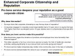 enhanced corporate citizenship and reputation