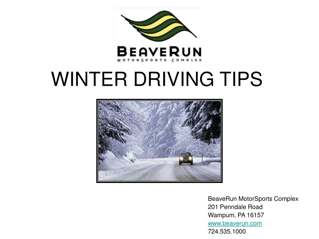 winter driving tips l.