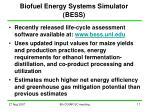 biofuel energy systems simulator bess