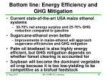 bottom line energy efficiency and ghg mitigation