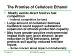 the promise of cellulosic ethanol