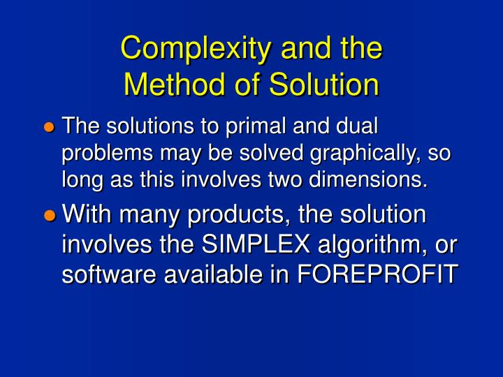 Complexity and the