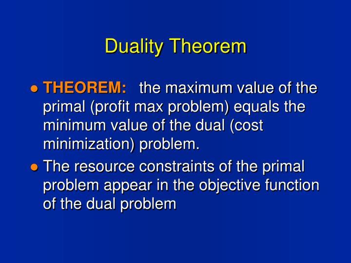 Duality Theorem