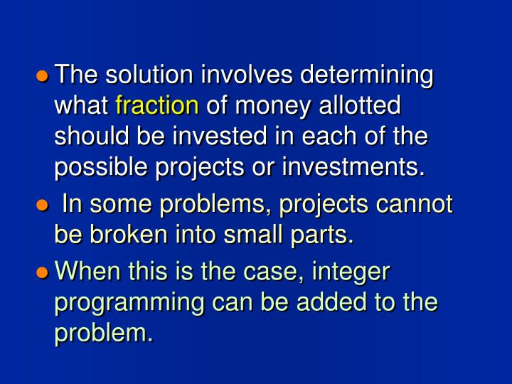 The solution involves determining what