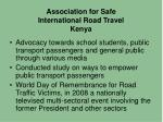association for safe international road travel kenya