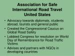 association for safe international road travel united states