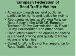 european federation of road traffic victims