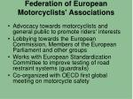 federation of european motorcyclists associations