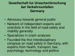 gesellschaft fur ursachenforschung bei verkehrsunfallen germany