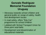 gonzalo rodriguez memorial foundation uruguay