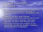 transplant medications azathioprine