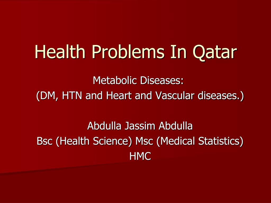 Health Problems In Qatar