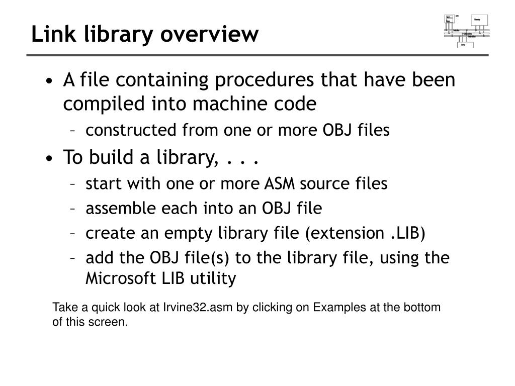 Link library overview