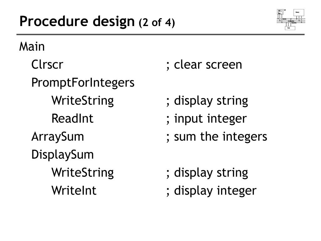 Procedure design