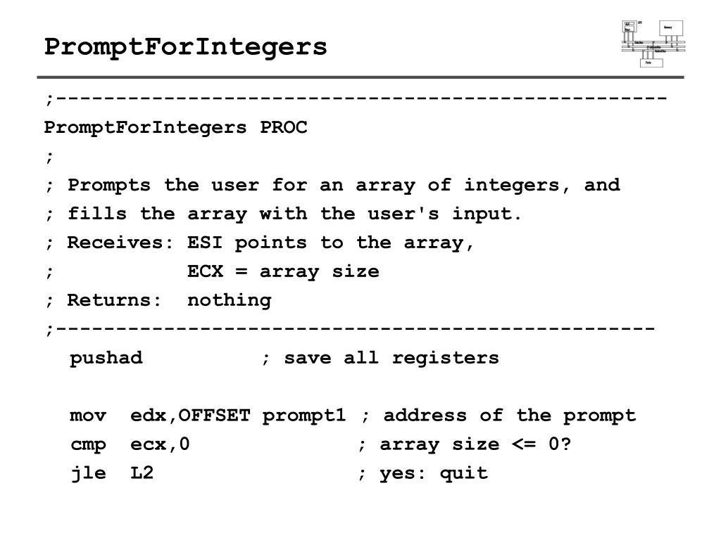 PromptForIntegers