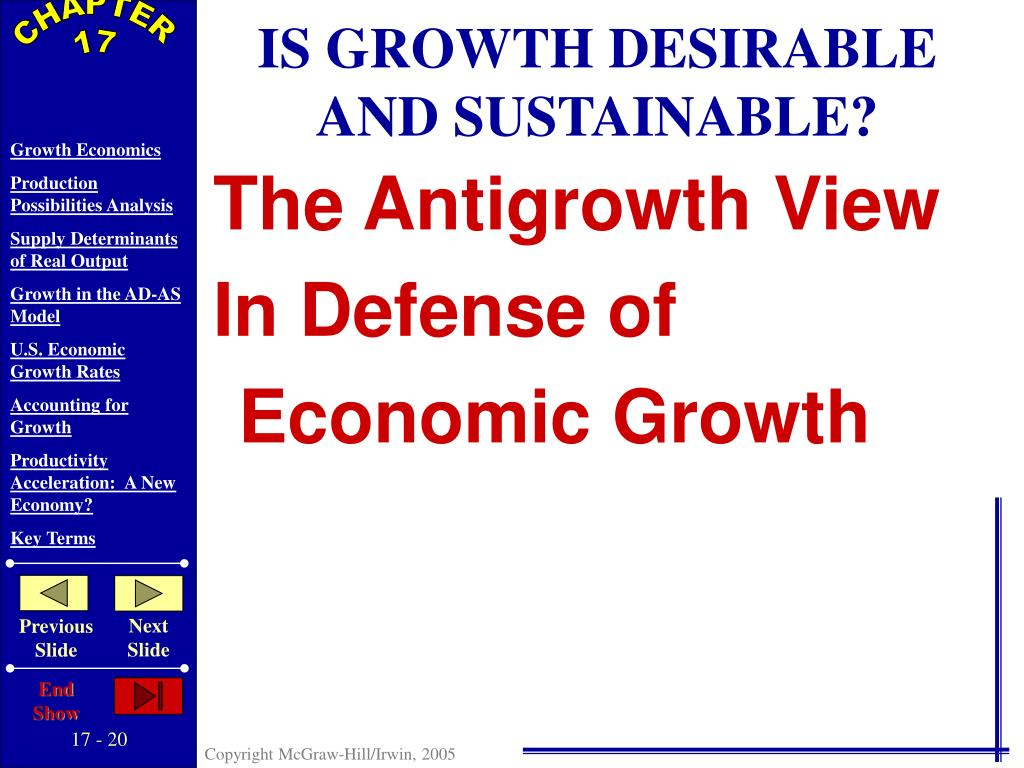 IS GROWTH DESIRABLE