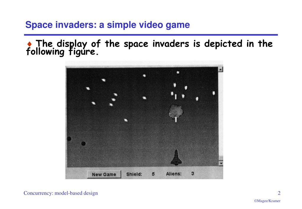 Space invaders: a simple video game