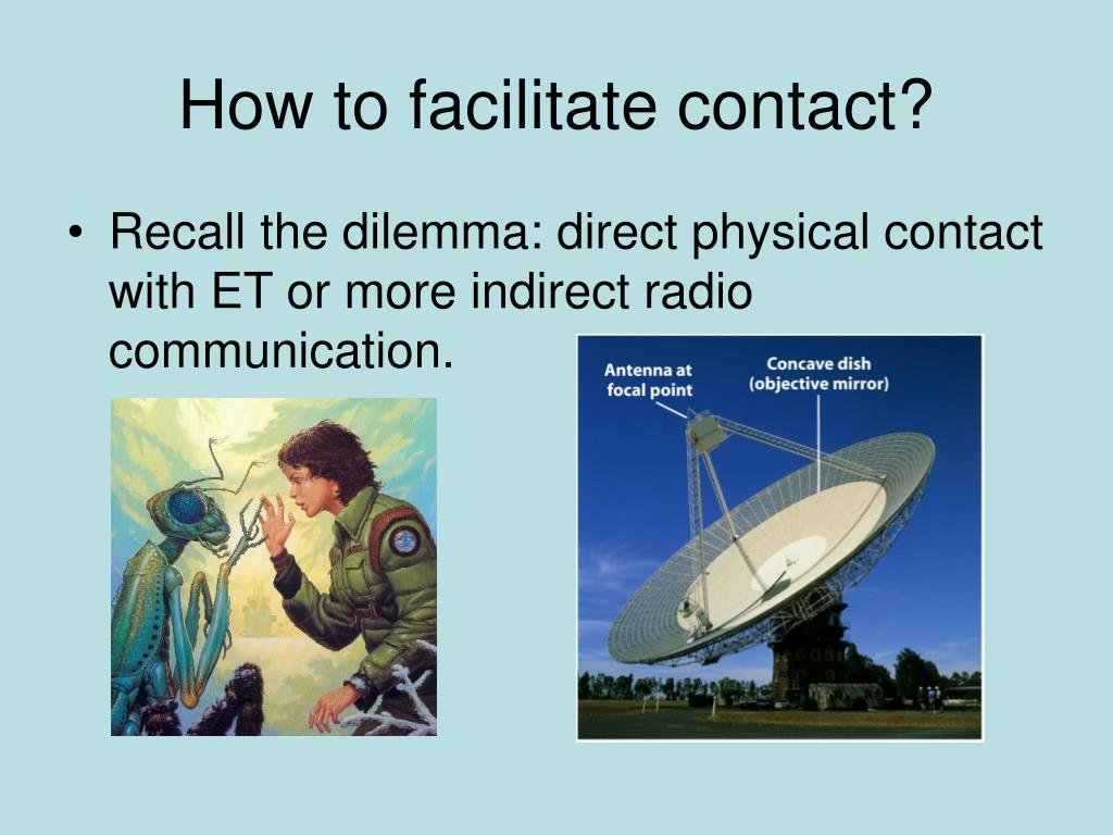 how to facilitate contact l.