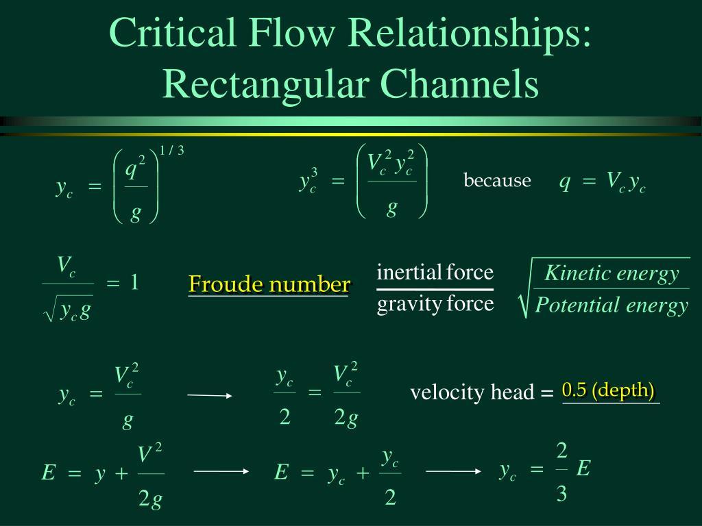 Critical Flow Relationships: