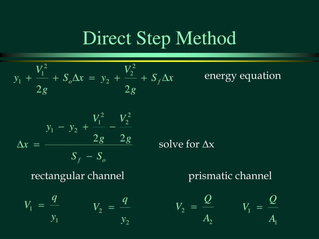 Direct Step Method