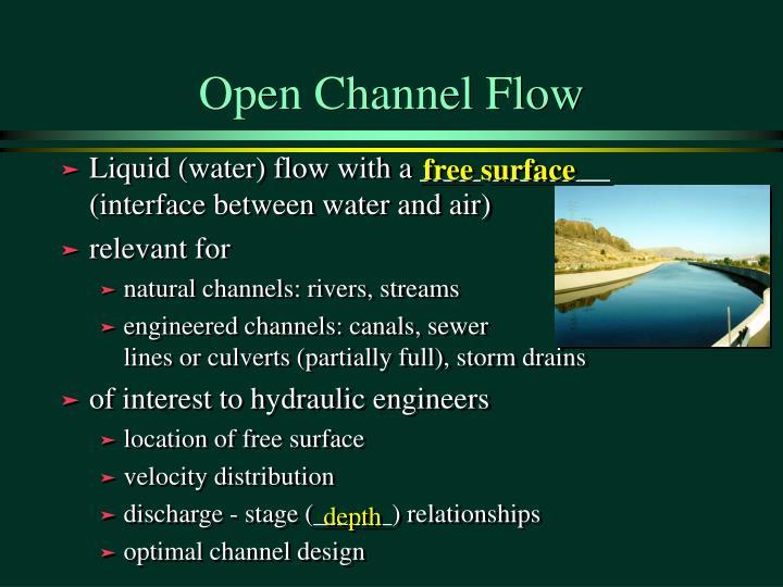 Open channel flow2