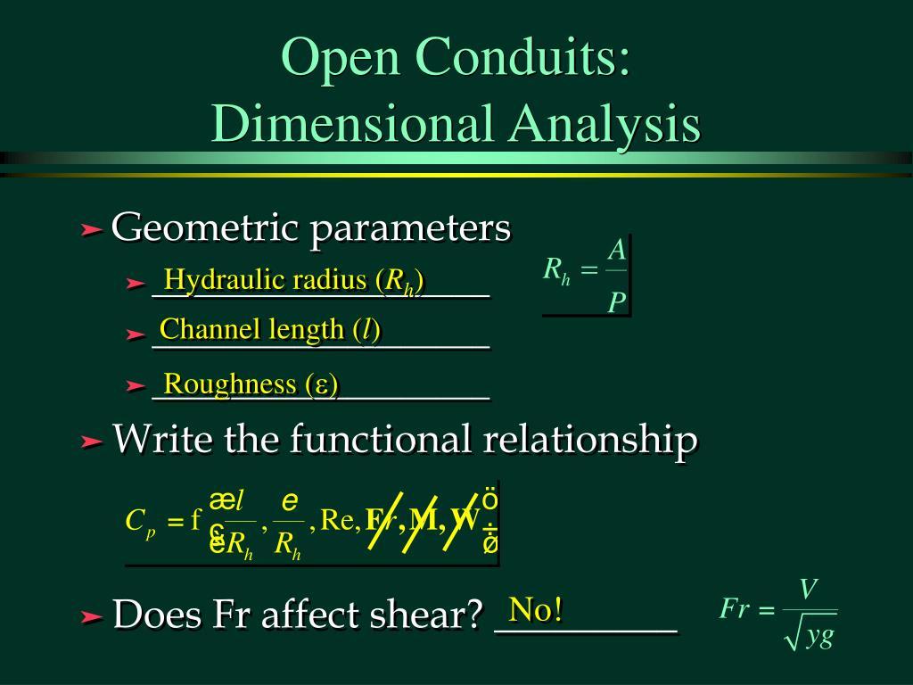 Open Conduits: