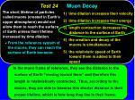 test 24 muon decay49