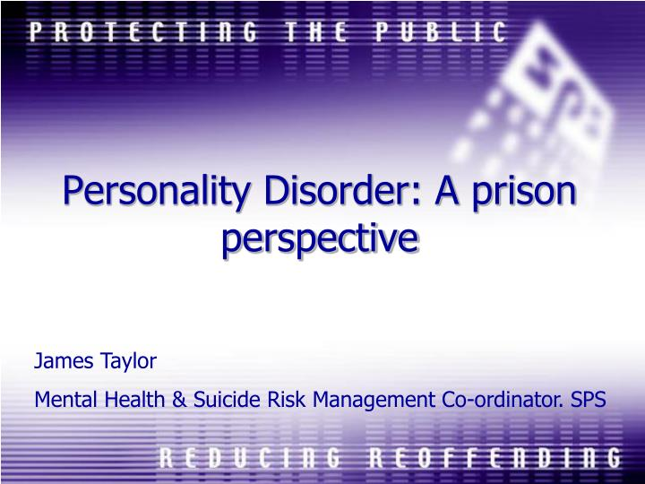 personality disorder a prison perspective n.