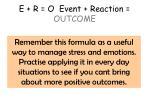 e r o event reaction outcome