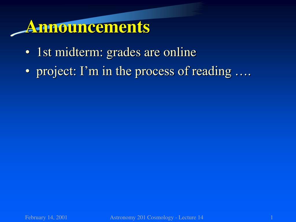 announcements l.