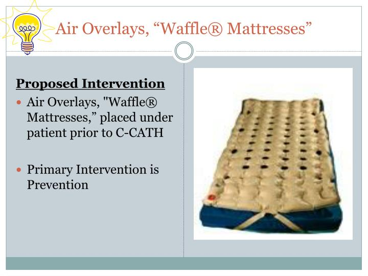 "Air Overlays, ""Waffle® Mattresses"""