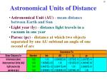 astronomical units of distance