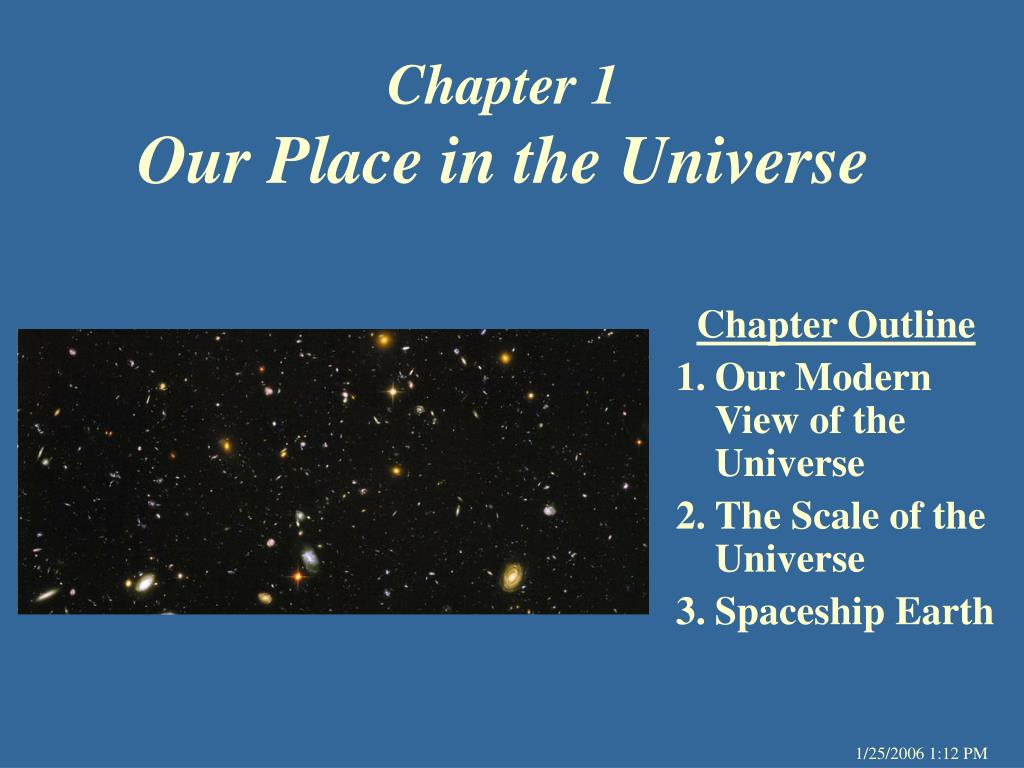chapter 1 our place in the universe l.