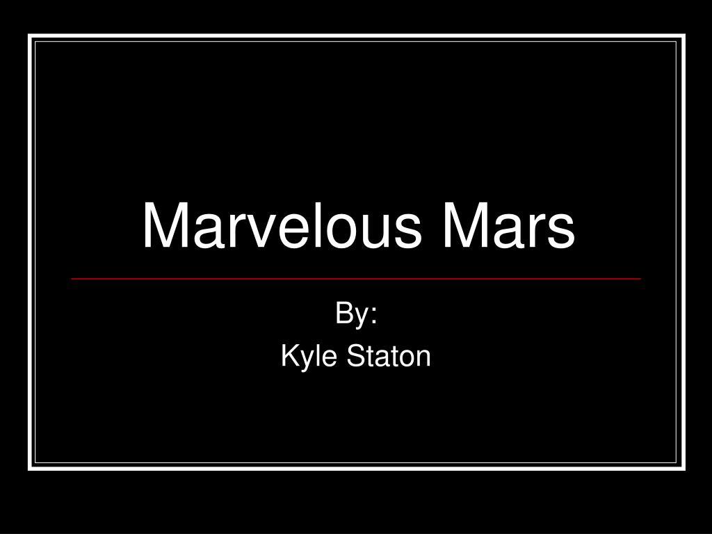 marvelous mars l.