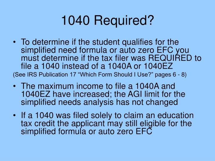 1040 Required?