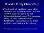 chandra x ray observatory
