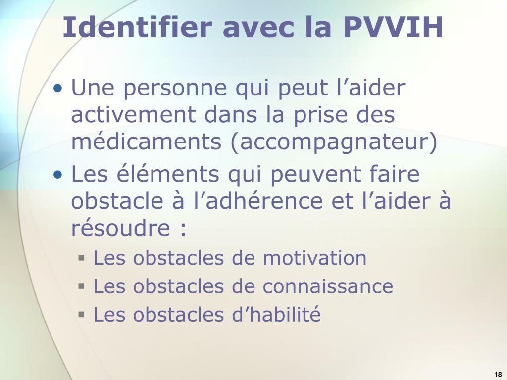 Identifier avec la PVVIH