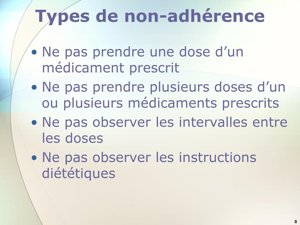 Types de non-adhérence