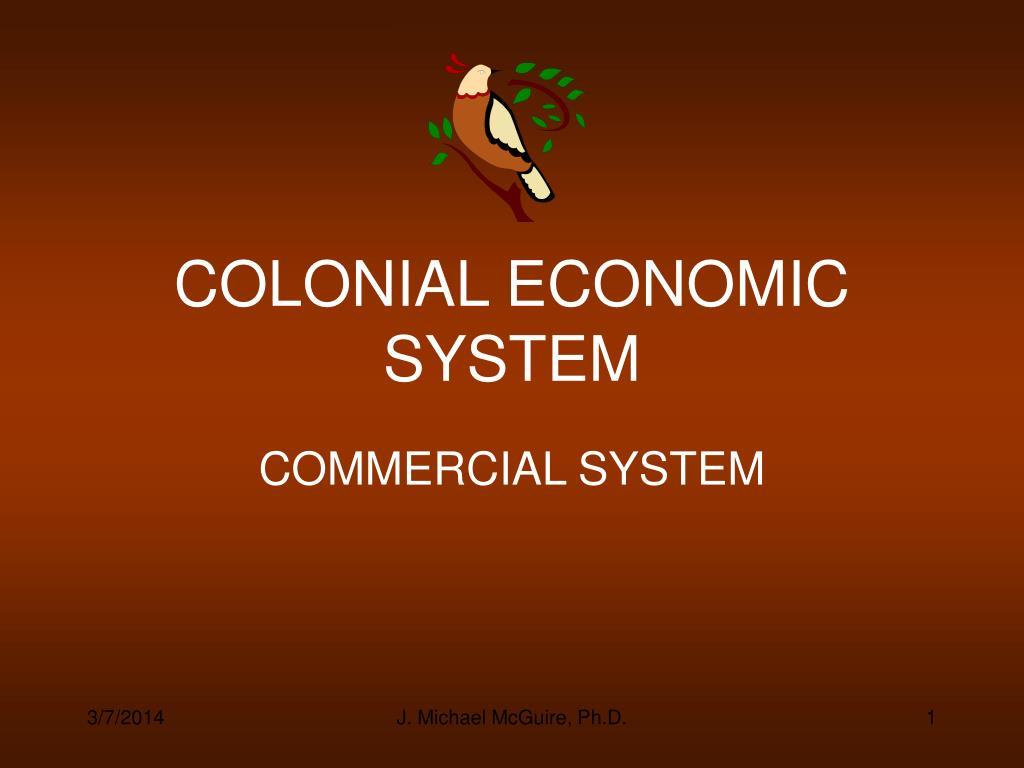 colonial economic system l.