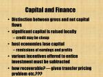 capital and finance