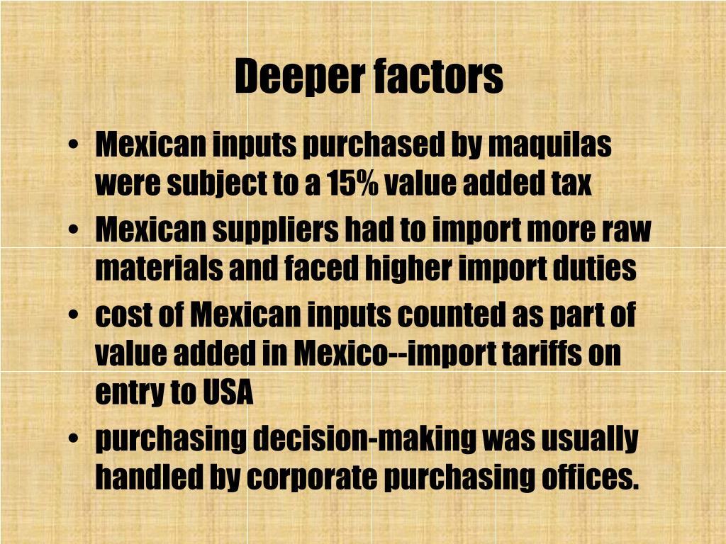 Deeper factors